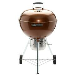 Weber 22 Charcoal Grill Original Kettle Remove Ash Catcher Built In Thermometer