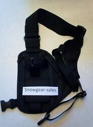 Hands Free Radio Chest Harness For Pro Anduhf Radios Black Rch 101