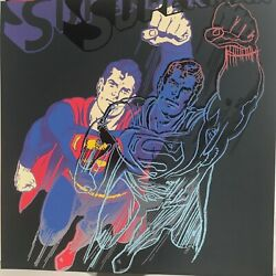 """Andy Warhol -""""superman""""-diamond Dust-from Myths Suite-1981 -silkscreen Proof"""