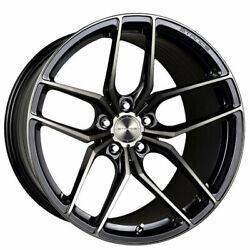 4 21 Staggered Stance Wheels Sf03 Gloss Black Tinted Machined Rims B3