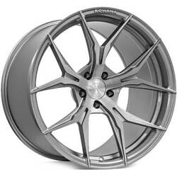 4 20 Staggered Rohana Wheels Rfx5 Brushed Titanium Rims B3