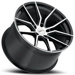 4 19/20 Staggered Cray Wheels Spider Black Rims Fit Corvette B2