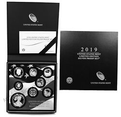2019 S Us Limited Edition Silver Proof Set Ogp First All .999 Silver 8 Coins