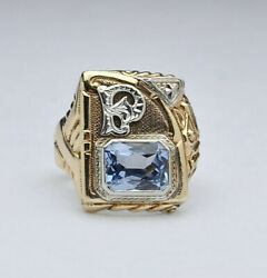 Huge Gothic Kinsley And Sons Dragon 10k Initial Ring - Size 9 1/2, Circa 1930s