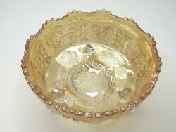 Fenton Butterfly And Berry Carnival Depression Glass Claw Foot Master Bowl Vintage