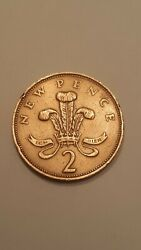 A 1971 New Two Pence Coin In Good Condition Very Rare Coin