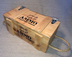 Palestine Novelty Ammunition In Wooden Ammo Crate Made In Usa