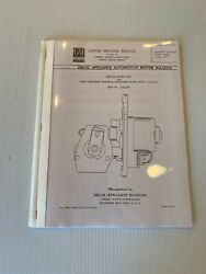 58 Car 58 59 Truck Chevy Electric Windshield Wiper Motor Service Book 27 Page