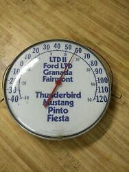 Vintage Ford Thermometer Works 12 Inches Diameter Make An Offer