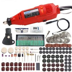 Dremel Variable Rotary Speed Tool Power 220v Electric Kit Corded 180w Mini Drill