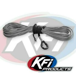 Kfi Products Syn23-s38 15/64 Synthetic 38' Atv Winch Cable Rope Smoke