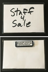 20 - 3 X 4 Vinyl Name Tags / Badge Holder Clothing Magnet Bars Magnetic Tags