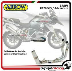 Arrow Collector Stainless Steel Homologated For Bmw R1200gs/adventure 2013/2016