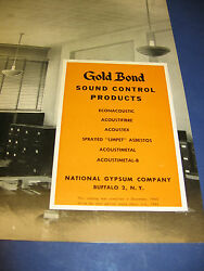 Gold Bond Sound Control Products Catalog 3 Lot U S Navy Asbestos Vintage 1940and039s