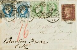 Austria. Over Yv 332 362 .1873. 3 K Green Two Stamps And 10 K Blue Two Se