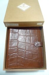 MULBERRY -  LEATHER  PLANNER CONGO WITH BOX AND INSERTS - LARGE- TEAK-MADE IN UK