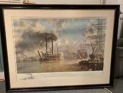 John Stobart Remarque Print New Orleans J.m. White In 1878 Signed And Numbered