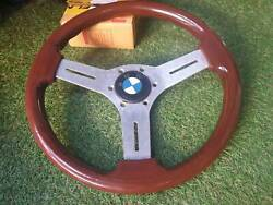 Rare Vintage Nardi Wood Steering Wheel With Bmw Horn E30 E21