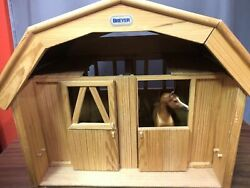 Breyer Deluxe Two Stable Wooden Loft Barn Large Wood Display Set