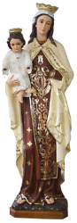 Our Lady Of Mount Carmel Blessed Virgin Mother Mary 53 Inch Fancy Paint Statue