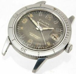 Bulova Vtg Automatic Waterproof 666ft Stainless Steel Diver's Men's Watch