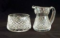 Vintage Waterford Crystal Alana Open Sugar And Creamer Discontinued