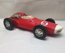 Mattel 1963 V-rroom 5 Red And White Race Car In As Is Condition - Vrroom