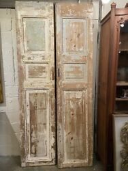 Antique Cypress 3-panel Doors Pair | Architectural Salvage | New Orleans