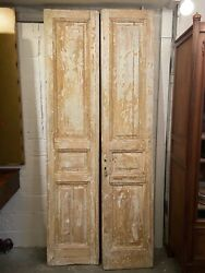 Cypress 3-panel Doors Pair | Architectural Salvage Antiques | New Orleans