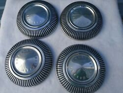Set Of 4 64 65 66 67 Mercury Marauder Comet Cyclone Dog Dish Hubcap Wheel Covers