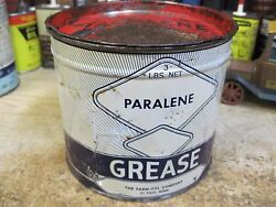 Paralene Farm Oyl Oil Grease Can 1920and039s Original Gas Tin Filling Station