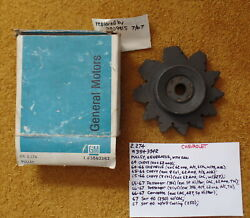 1964-67 Chevrolet Alternator Pulley And Fan Nos 3843342 No Part Stamp Type