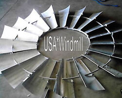 Aermotor Windmill Wheel 8ft A602 Models New With V Spokes Sections Assembled