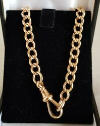 Antique 9ct Solid Yellow Gold Curve Link Bracelet.by Joseph Cook And Son .c1910