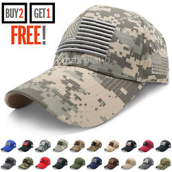 Baseball Cap for Men Tactical Army Cotton Dad Hat USA American Flag Caps Trucker $8.99