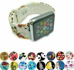 Cartoon Mickey Stitch Silicone Band For Apple Watch Sport Wrist Soft Kids Strap $13.02