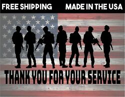 Andldquothank You For Your Serviceandrdquo Military Decal Sticker For Glass Or Bumper Sticker