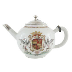 18th Century Chinese Porcelain Armorial Teapot