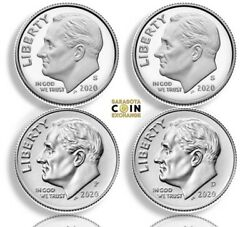 2020 Sspd Roosevelt Dimes S Silver.999 S Proof And Pd Uncirculated