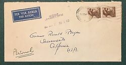 Stamp, Italy Cover From Florence To Ca. Governor Ronald Reagan, Unique Piece