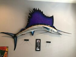 Large Wall Mount Sailfish Fiberglass Local Pick Up Only 6 Feet Across And Crated