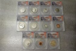 2019 10-coin Silver Proof Set Anacs Pr70 First Strike W/bonus Lincoln Rp70 Penny