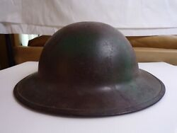 Ww1 Us Soldiers Doughboy Helmet With Liner And Chinstrap.