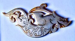 Ming Dy. Antique Chinese 23x9 Cms Greyish Jade Dragon Plaque