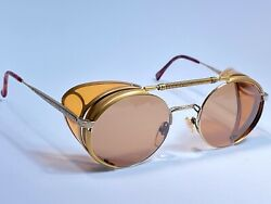 VINTAGE MATSUDA 2809 SIDE CUPS BROWN LENS JAPAN TERMINATOR 1990 SUNGLASSES