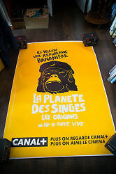 Rise Of Planet Of Apes Rare Teaser 4x6 Ft Shelter Movie Poster Original 2011