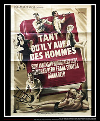 From Here To Eternity 24 X 32 French Moyenne Fold Movie Poster Original 1953