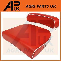 David Brown 770 780 850 880 990 Tractor Seat Cushion And Back Rest Kit Red/white