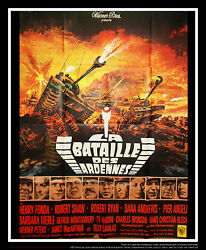Battle Of The Bulge 4x6 Ft French Grande Movie Poster Original 1965