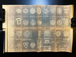 Wwii 1942-1947 War Department 101st Airborne Insignia Patch Blueprint Relic